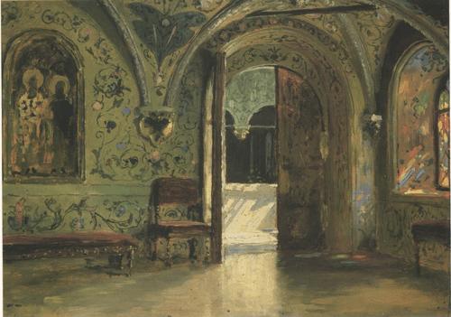 Теремной дворец. Выход из покоев на Золотое крыльцо. 1877