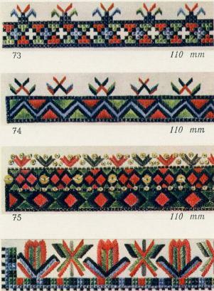 Узоры вышивок накладных воротников