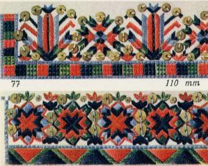 Узор вышивок из Пэйде-Яани