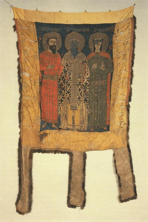 Хоругвь Григория Просветителя. 1448. Вышивка
