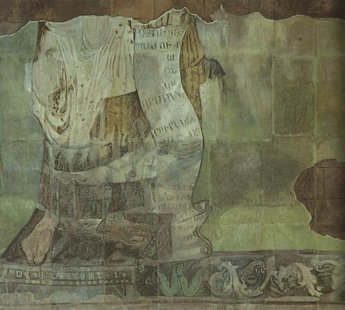 Храм в Аруче. VII в. Призвание апостолов. Роспись в алтарной апсиде