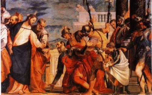 Христос исцеляет слугу сотника