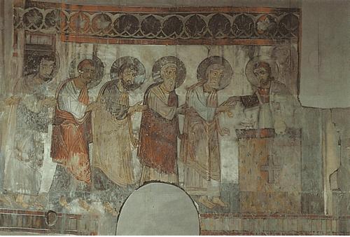 Церковь в Кобайре. 1263. Евхаристия. Роспись в восточной апсиде
