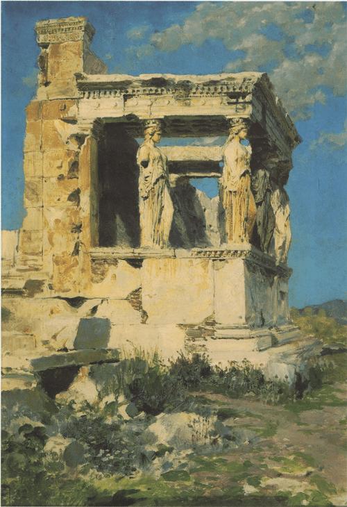 Эрехтейон. Портик кариатид. 1882