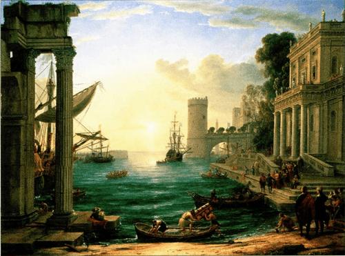 «Отплытие царицы Савской» (1648) Клода Лоррена. Пейзажи Лоррена оказали большое влияние на молодого Щедрина.