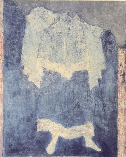 Аарон. Около 1417 Фреска западной стороны барабана Собор Успения на Городке. Звенигород
