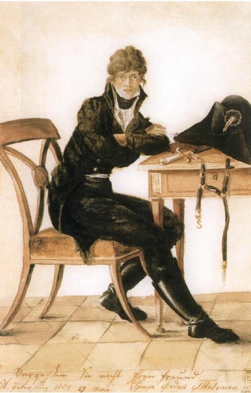 Автопортрет. 1804 Акварель