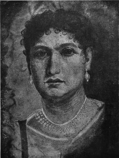 Алина, Frau Aline. Портрет из Фаюма. Старый мувей в Берлине