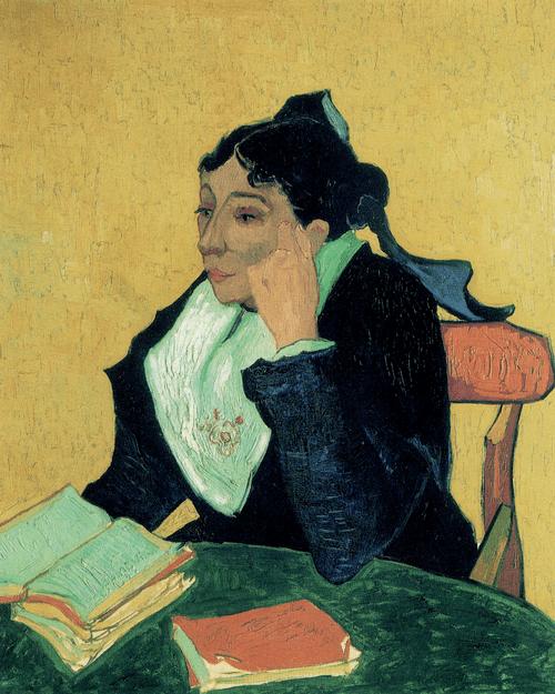 Арлезианка мадам Жозеф-Мишель Жину с книгами. 1888 год.