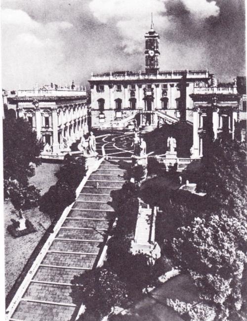 Архитектурного ансамбля площади Капитолия в Риме, не дворец Сенаторов. 1538, около 1546 — около 1654.