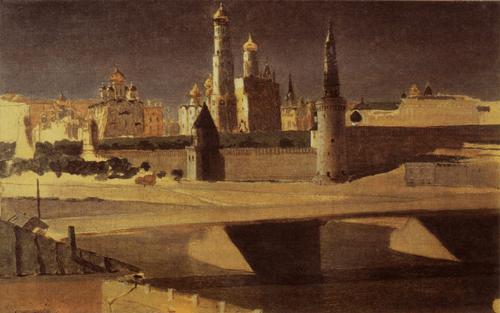 А. И. Куинджи. Вид на Кремль со стороны Замоскворечья. 1882