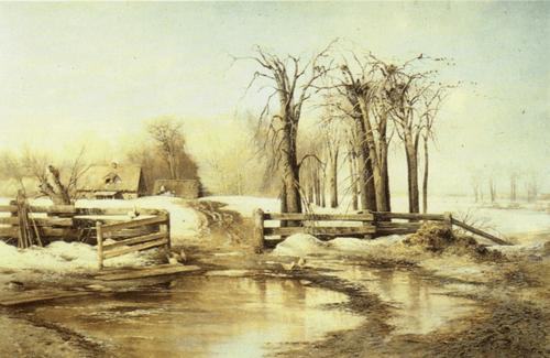 А. К. Саврасов. Весенний день. 1873