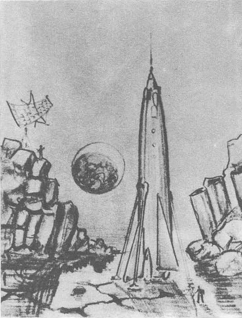 А. Леонов. «Восход-2» на орбите. Масло. 1965.