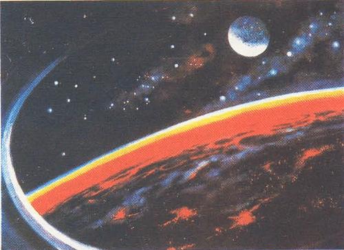 А. Леонов. В иллюминаторе — Земля. Масло. 1965.