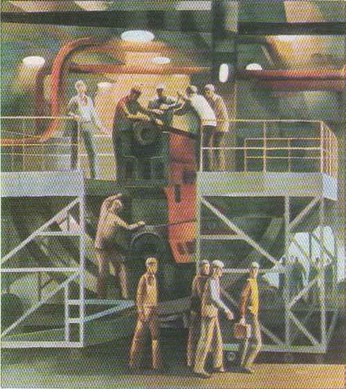 А. Паркосадзе (Тбилиси). На строительстве БАМа. Масло. 1976