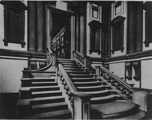 Библиотека Лауренциана. Вестибюль.