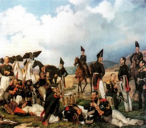 Бивуак лейб-гвардии Гренадерского полка (Установка офицерской палатки). 1842-1843