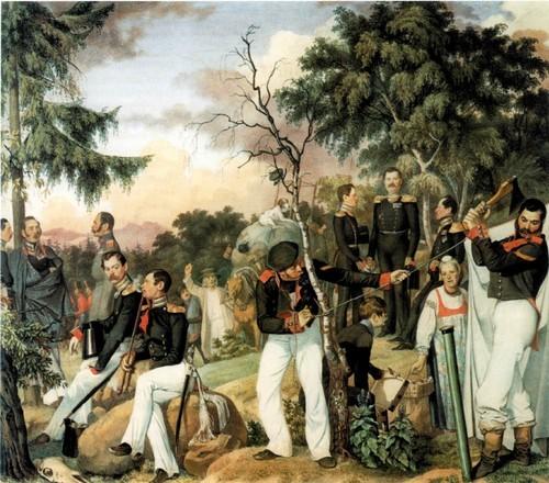 Бивуак лейб-гвардии Павловского полка (Отдых на походе). 1841-1844