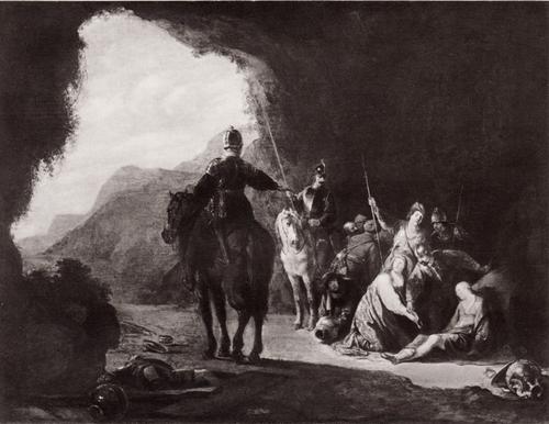 Биллем де Поортер Теаген и Хариклея в пещере разбойников
