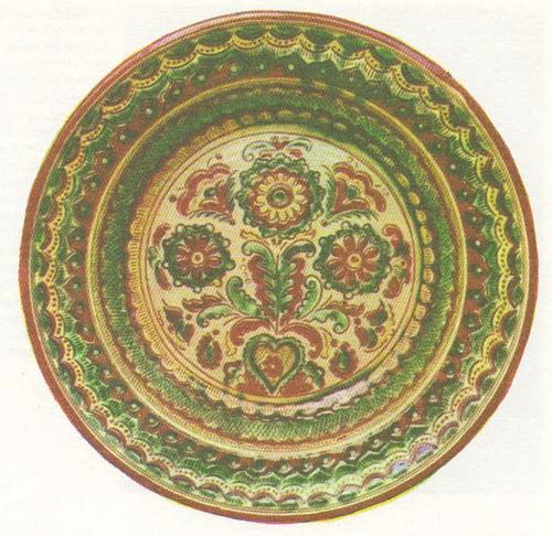 Блюдо. Ивано-Франковская область. Косов. 1977.