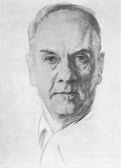 Б. Иогансон (1893—1973). Автопортрет.