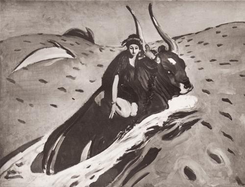 Валентин Александрович Серов Похищение Европы. Эскиз. 1910