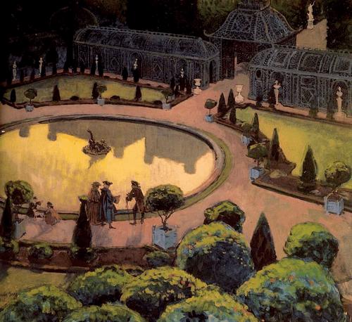 Версаль. Оранжерея. 1906 год. Бумага на картоне, гуашь