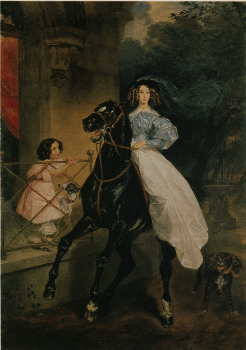 Всадница. 1832
