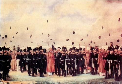 Встреча в лагере Финляндского полка великого князя Михаила Павловича 8 июля 1837 года