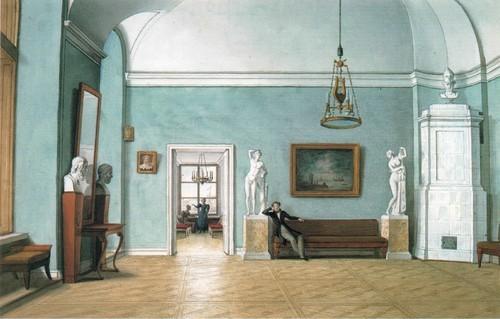 В комнатах. 1830-е Акварель