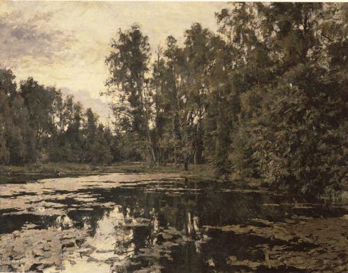В. А. Серов. Заросший пруд. Домотканово. 1888