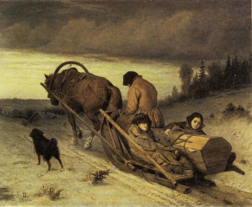В. Г. Перов. Проводы покойника. 1865