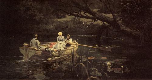 В. Д. Поленов. На лодке. Абрамцево. 1880