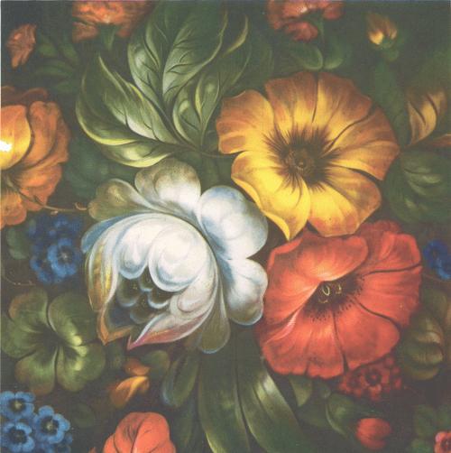 В. Пыжов. Букет цветов. Фрагмент. 1974.