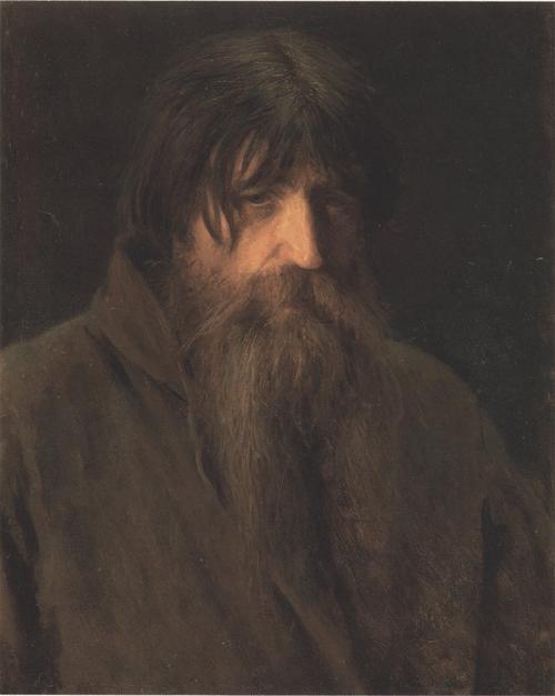 Голова старика крестьянина (Этюд мужичка). 1874