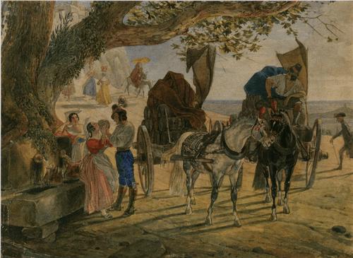 Гулянье в Альбано. 1830—1833.