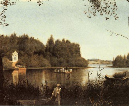 Г. В. Сорока. Вид на озеро в Островках. Конец 1840-х гг.