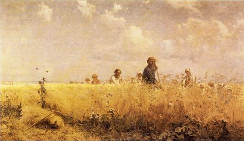 Г. Г. Мясоедов. Страдная пора (Косцы). 1887