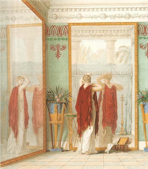 Душенька при свете лампы узнает в супруге прекрасного Амура. 1827