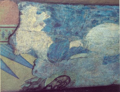 Евангелист Иоанн. Около 1415 Собор Успения на Городке. Звенигород