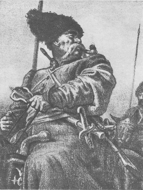 Е. Кибрик. Иллюстрации к повести Н. В. Гоголя «Тарас Бульба».