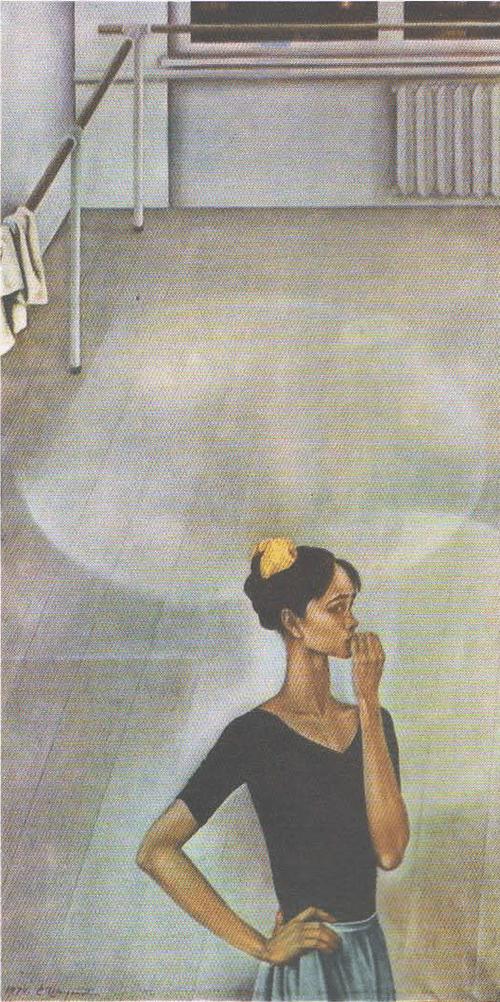 Е. Широков (Пермь). Портрет Нади Павловой. Масло. 1974.