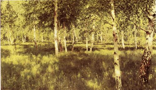 И. И. Левитан. Березовая роща. 1889