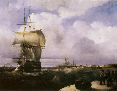И. К. Айвазовский. Большой рейд в Кронштадте. 1836