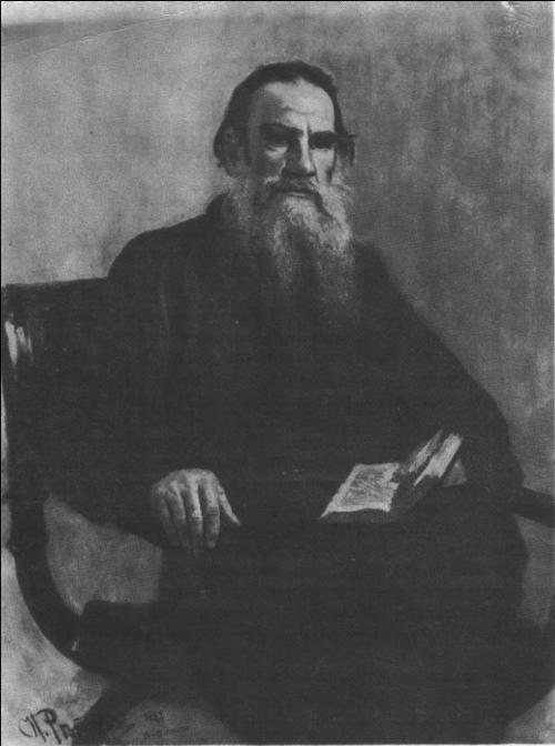 И. Репин. Портрет писателя Л. Н. Толстого. Масло. 1887.