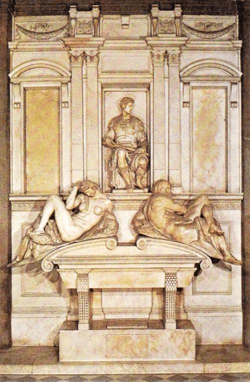 Капелла Медичи. Гробница Джулиано Медичи. 1526 — 1533.