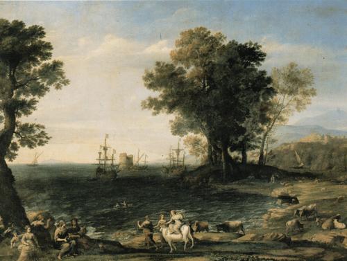 Клод Желле, прозв. Клод Лоррен Похищение Европы. 1655