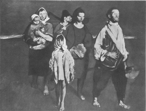 Крестьяне. Масло. 1958. К. Баба.