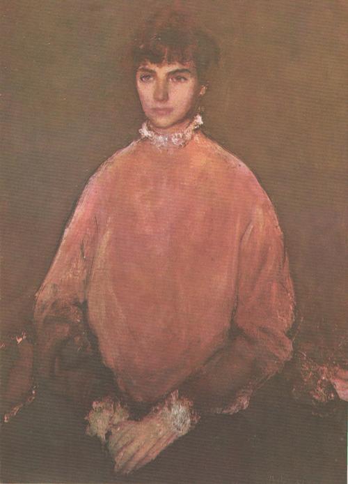 К. Баба. Портрет девушки в розовом. 1957