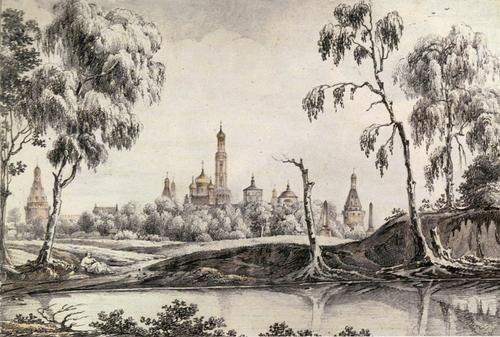 К. И. Рабус. Вид на Симонов монастырь
